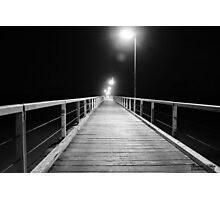 B&W Jetty Photographic Print