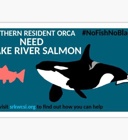 No Fish No Blackfish sticker design Sticker