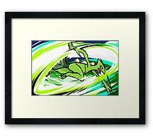 Sceptile | Leaf Blade Framed Print