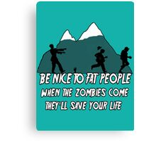 Funny Zombie Canvas Print