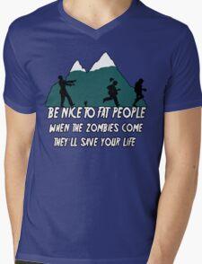 Funny Zombie Mens V-Neck T-Shirt