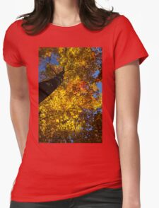 Hot Yellow Gold - Northern Autumn Splendor Womens Fitted T-Shirt