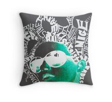 Neon girl Throw Pillow