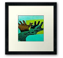 Dont bite the hand that feeds. Framed Print