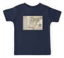 United States-Telegraph stations-1853 Kids Tee