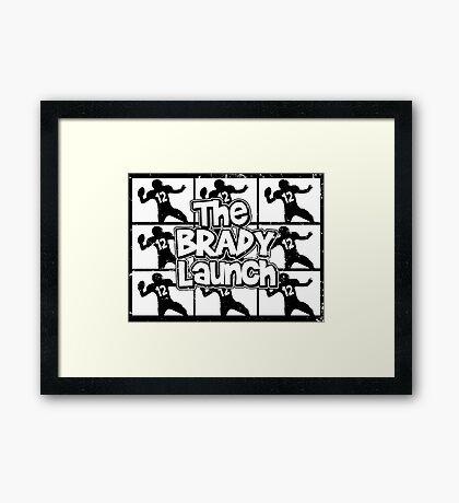 The Brady Launch Framed Print