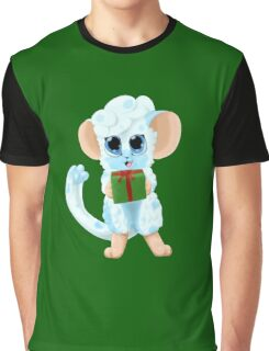Fluffy Mouse Graphic T-Shirt