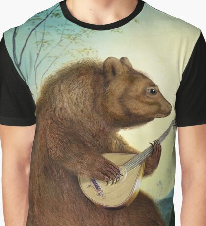 Mandolin Bear Graphic T-Shirt
