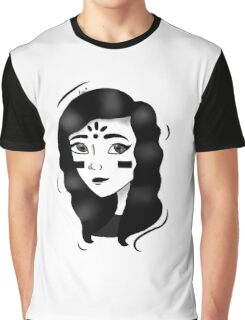 Minimalism - Black And White Girl  Graphic T-Shirt