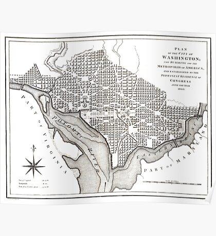 Washington-Washington DC-1800 Poster