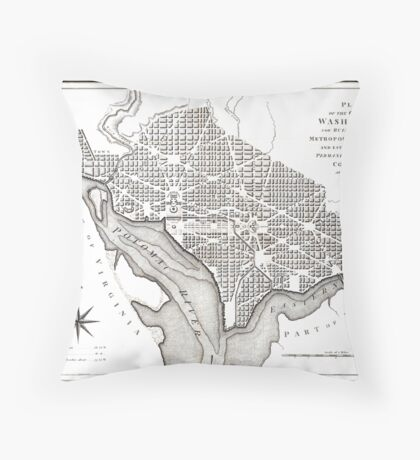 Washington-Washington DC-1800 Throw Pillow