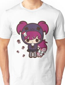 PASTEL GOTH GIRL WITH PENGUIN Unisex T-Shirt