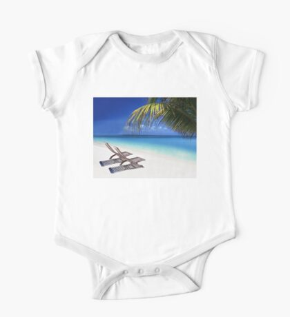 Relax at the Beach  One Piece - Short Sleeve