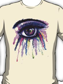 Watercolor Eye in Anime Style T-Shirt