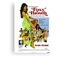 Foxy Brown (Blue) Canvas Print