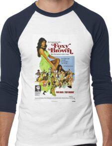 Foxy Brown (Blue) Men's Baseball ¾ T-Shirt