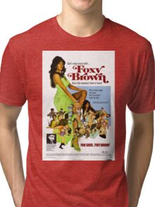Foxy Brown (Blue) Tri-blend T-Shirt