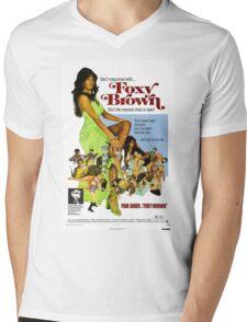 Foxy Brown (Blue) Mens V-Neck T-Shirt