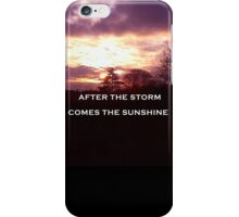 Sunshine through clouds iPhone Case/Skin