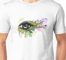 Green Eye with floral Unisex T-Shirt
