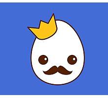 Kawaii Royal egg - The King Photographic Print
