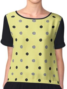 Gray and yellow dots Chiffon Top