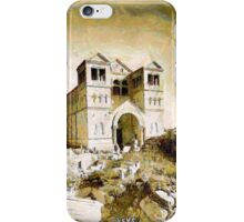 A digital painting of  the Church of the Transfiguration, Mount Tabor, in the 19th century. iPhone Case/Skin