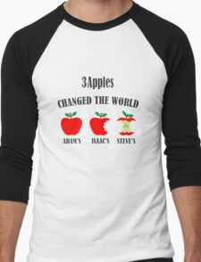 3 Apples Changed The World Colour Apple Design T-Shirt