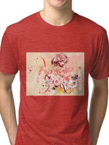 Abstract floral girl Tri-blend T-Shirt