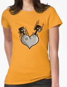 Heart Engine (3) Womens Fitted T-Shirt