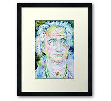 GOETHE - watercolor portrait Framed Print