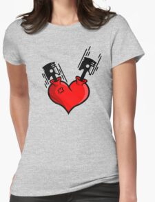 Heart Engine (4) Womens Fitted T-Shirt