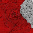 rose outline red by andley