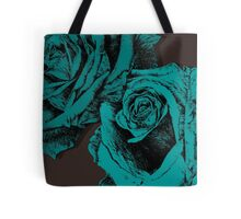 roses turquoise Tote Bag