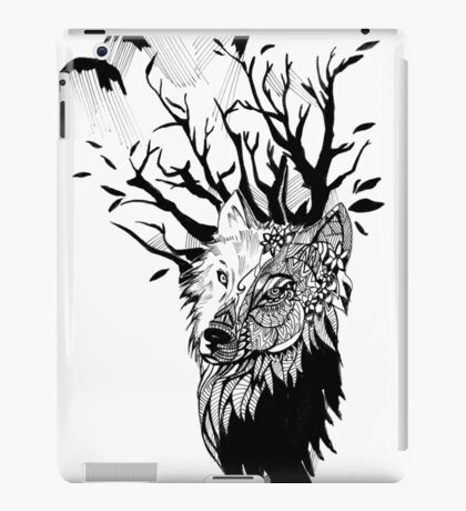 Wolf tattoo iPad Case/Skin