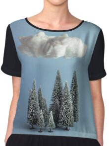 A cloud over the forest Chiffon Top