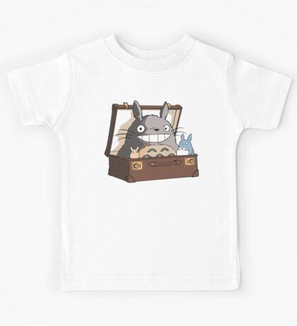 Totoro in Fantastic Suitcase Kids Tee