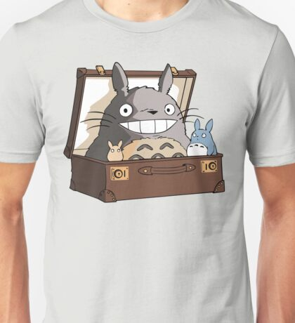 Totoro in Fantastic Suitcase Unisex T-Shirt