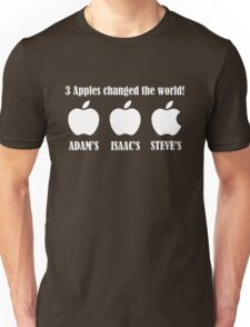 3 Apples changed the world - Apple Steve Jobs Memorial  Unisex T-Shirt