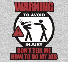 WARNING! TO AVOID INJURY (1) Kids Tee