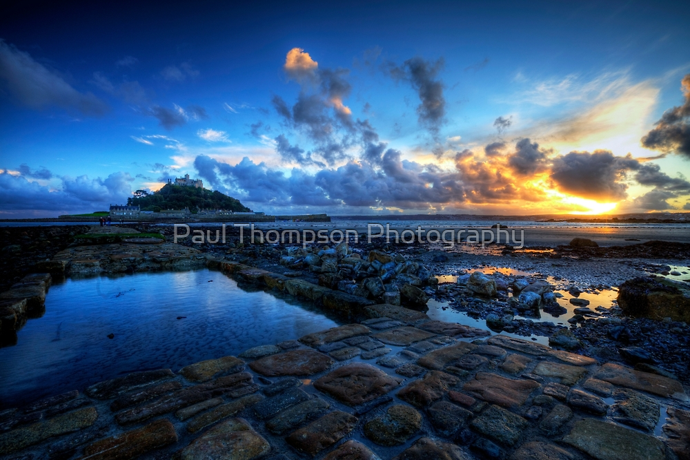 St Michael's Mount Sunset by Paul Thompson Photography