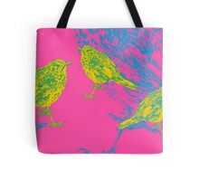 birds on pink Tote Bag
