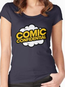 Comic Confidential Logo Women's Fitted Scoop T-Shirt