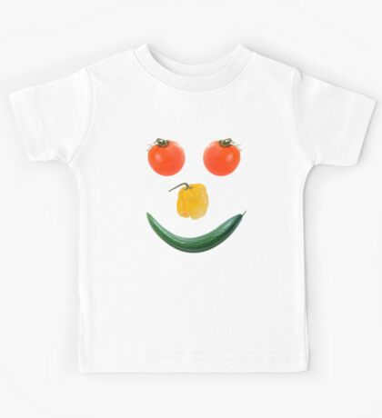 Smiley salad face Kids Tee