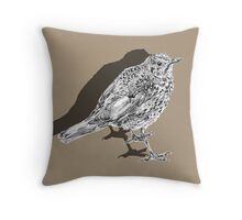 songthrush shadow Throw Pillow