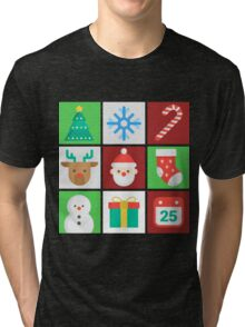 Christmas Tile Images  Tri-blend T-Shirt