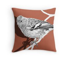 chaffinch shadow Throw Pillow