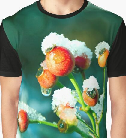Rose Hips in winter Graphic T-Shirt