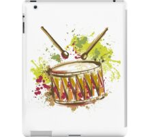 Drum with splashes in watercolor style iPad Case/Skin