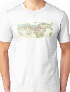 Map of Gothenburg - 1888 Unisex T-Shirt